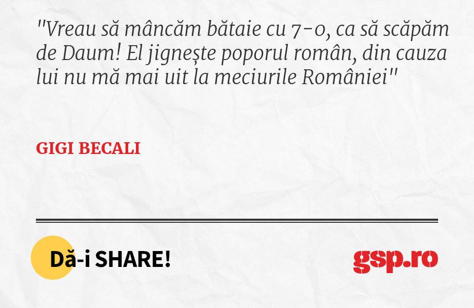 Vreau să mâncăm bătaie cu 7-0, ca să scăpăm de Daum! El jignește poporul român, din cauza lui nu mă mai uit la meciurile României
