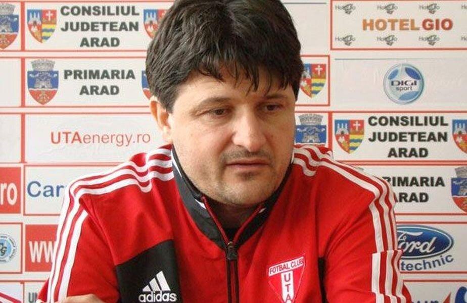 Adrian Falub pe vremea când era antrenorul arădenilor / Foto: specialarad.ro