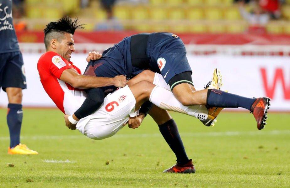 Rugby? Nu, fotbal! Falcao și Mendes au avut un moment extrem de tensionat în Monaco - Montpellier (foto: reuters)