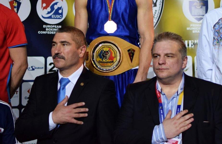 Președintele Vasile Câtea (stânga) și Viorel Sima fac echipă la FR Box din 2012