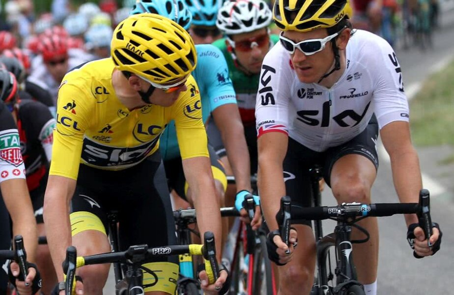 Chris Froome și Geraint Thomas, foto: Gulliver/gettyimages