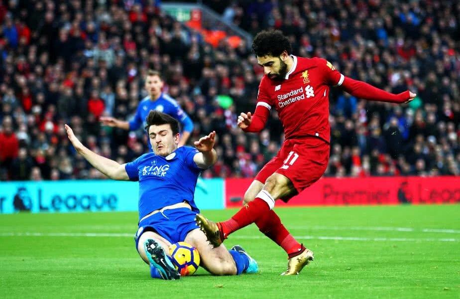 FABULOS. Mo Salah a înscris al 23-lea său gol stagional pentru Liverpool. Mai mult decât 8 cluburi din EPL: C. Palace, Burnley, Brighton, Swansea, WBA, Huddersfield, Southampton și Newcastle. Foto: Guliver/Getty Images