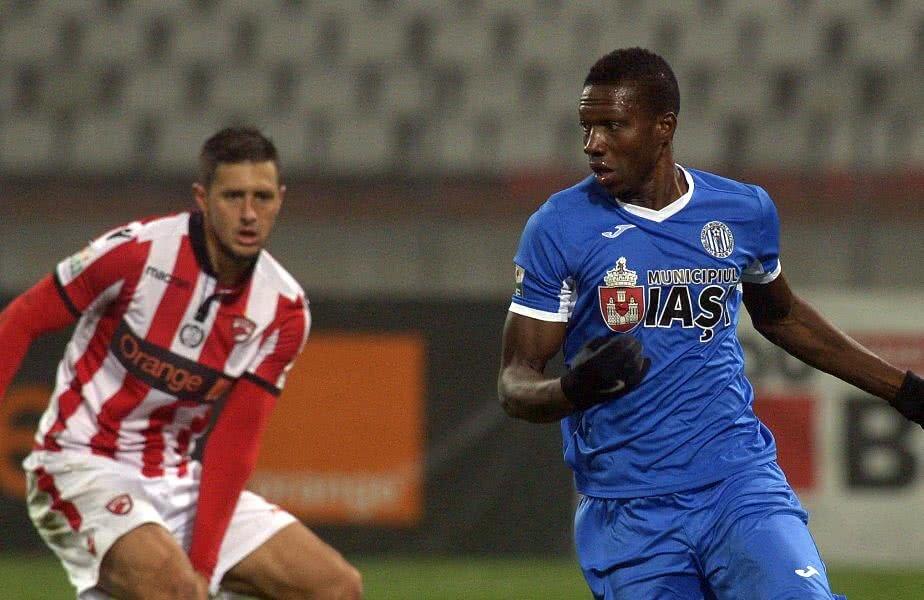 Cisse a debutat la Poli în 20 septembrie 2017, la 3-3 cu Botoșani. Are 5 selecții și 2 goluri în naționala Guineei // FOTO: Cristi Preda