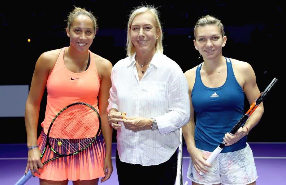 Martina Navratilova, încadrată de Madison Keys și Simona Halep Foto: Guliver/GettyImages