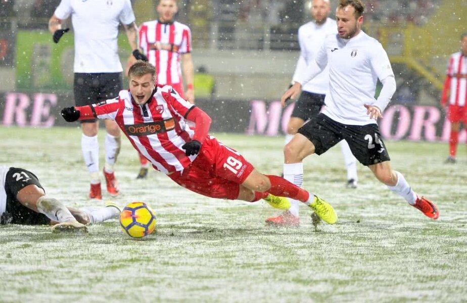 În cădere liberă. Dinamo a ieșit din play-off și se luptă să salveze ceea ce s-ar putea dovedi cel mai dezastruos sezon din istorie, foto: Raed Krishan/GSP