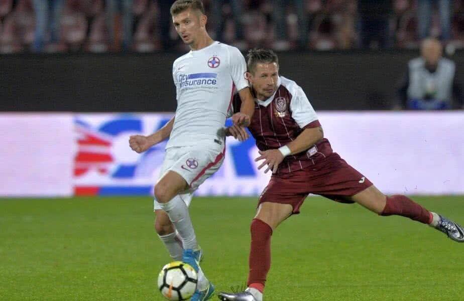 În sezonul regulat, CFR și FCSB au remizat de două ori, 1-1 atât la Cluj, cât și la București // FOTO: RAED KRISHAN