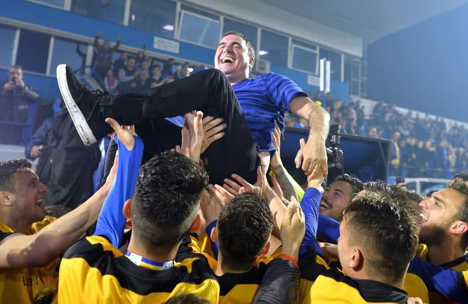 Hagi a câștigat titlul în Liga 1 la 5 ani de la promovarea în prima divizie și la 8 ani de la înființarea clubului // FOTO: Raed Krishan