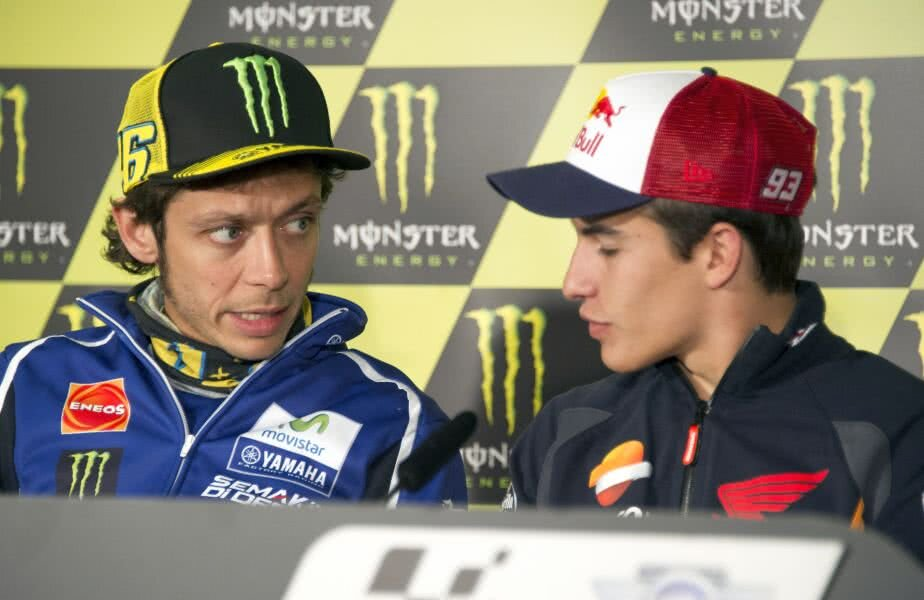 Valentino Rossi și Marc Marquez
