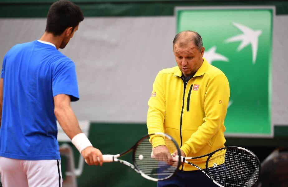 Novak, la un antrenament cu Vajda în 2016. foto: Guliver/GettyImages
