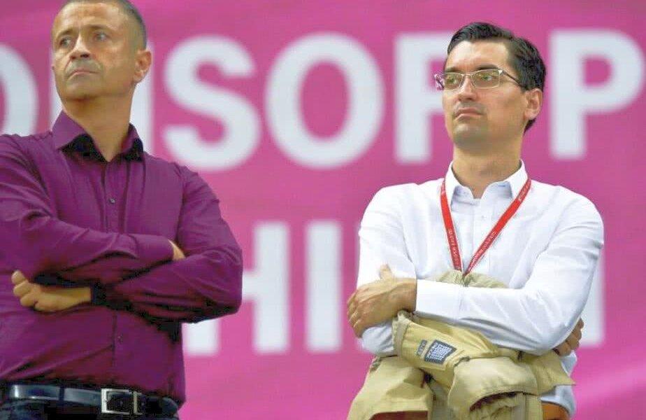 Bodescu, stânga, alături de Burleanu FOTO: Raed Krishan