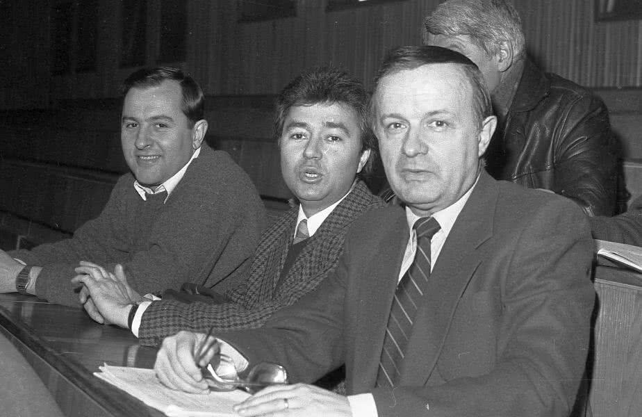 Imagine din 1988 de la alegerile FRF: Dumitru Graur, Ionel Stoica și Cristian Țopescu