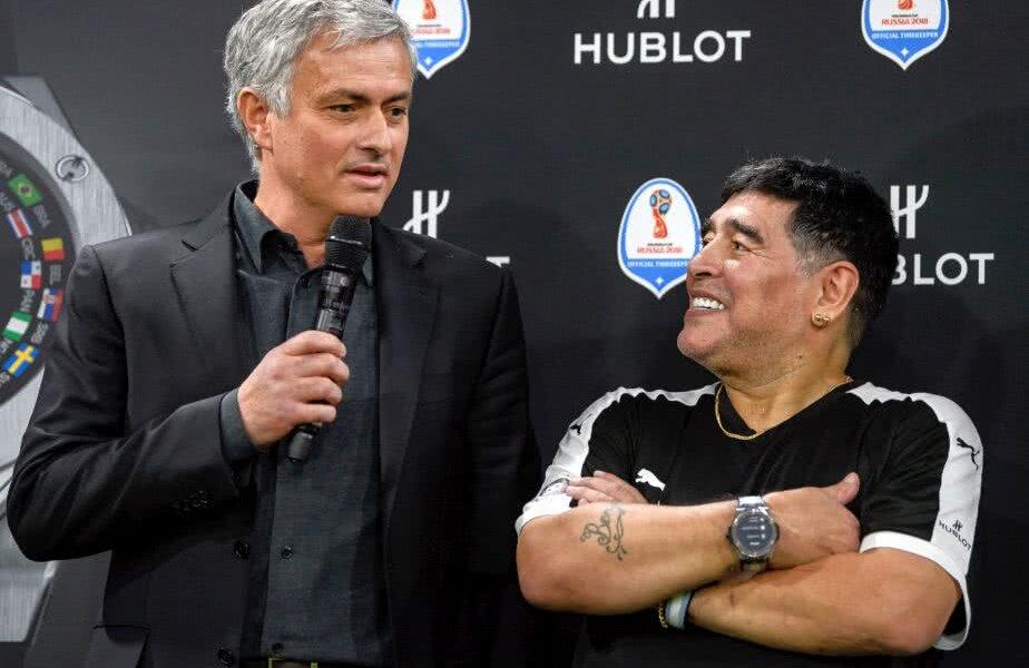Diego Maradona și Jose Mourinho FOTO: Guliver/GettyImages