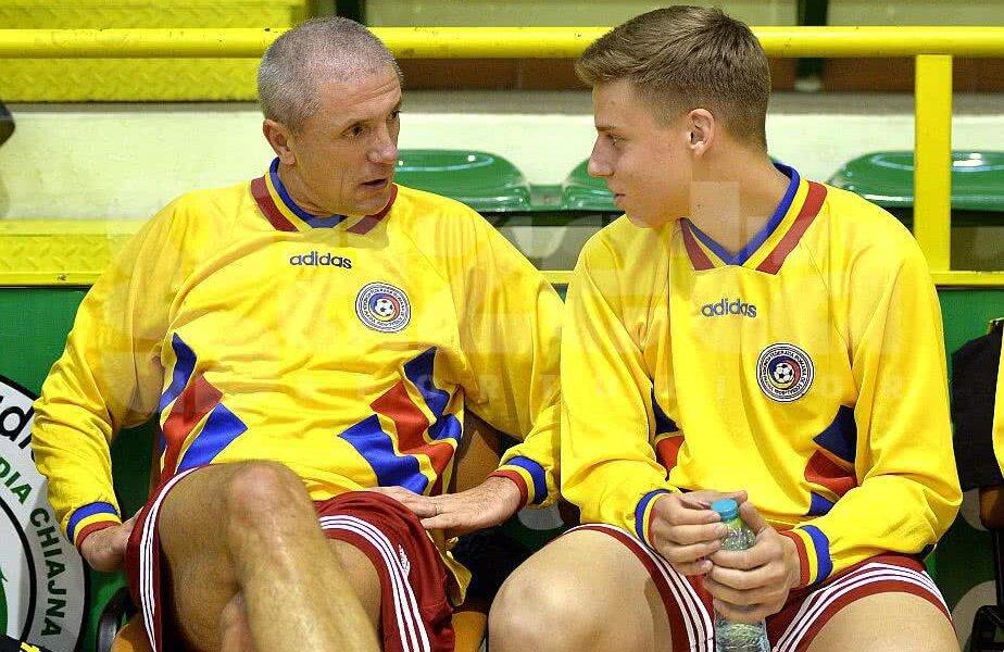 Gică Popescu alături de fiul lui Didi Prodan, Răzvan Prodan, la meciul comemorativ din noiembrie  Foto: Cristi Preda/Gazeta Sporturilo FOTO: Cristi Preda