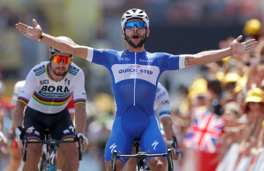 Fernando Gaviria a obținut prima sa victorie din carieră în Turul Franței, foto: reuters