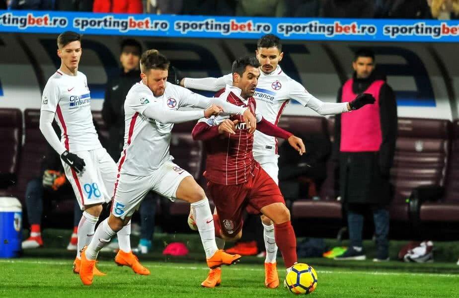 Dacă regula ar fi fost valabilă și sezonul trecut, duelul FCSB - CFR s-ar fi disputat în ultima etapă și ar fi decis noua campioană a României FOTO sportpictures.eu