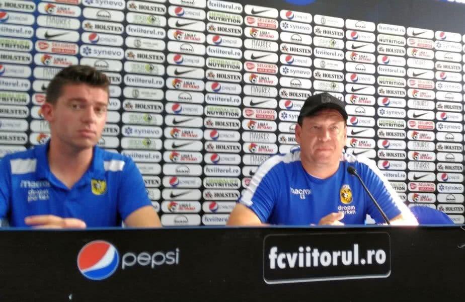 Leonid Slutsky, antrenorul lui Vitesse, în dreapta // FOTO: Ionuț Coman