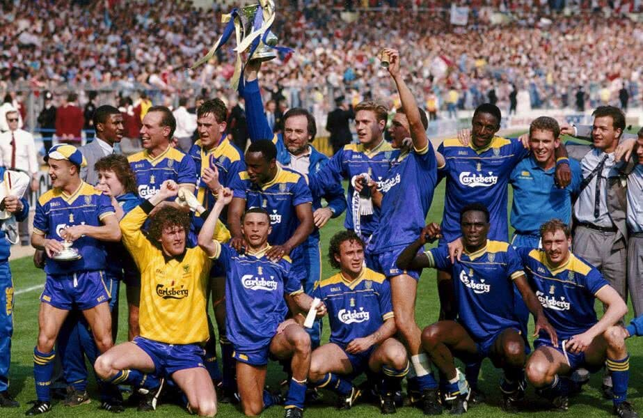 Jucătorii de la Wimbledon FC cu cel mai important trofeu câștigat, Cupa Angliei în 1988