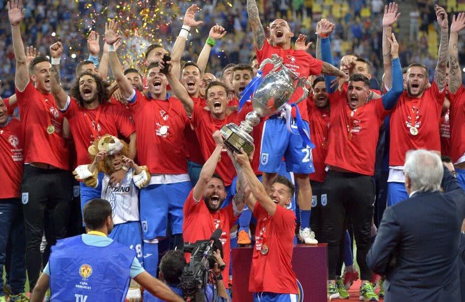 U Craiova din Liga 1 este deținătoarea Cupei României Foto: Cristi Preda