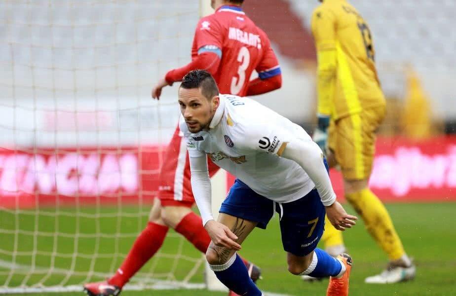 450 de mii de euro a plătit Hajduk pe cel mai scump transfer al verii, aripa stângă Adam Gyursco (27 de ani), de la Pogon Szeszcin // FOTO: hajduk.hr