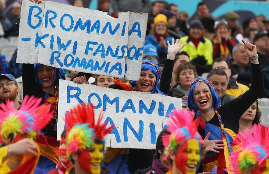 Fani ai României în Noua Zeelandă, la un meci de rugby, foto: Gettyimages