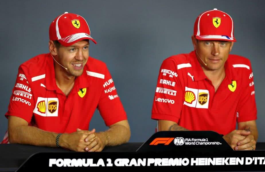 Raikkonen, în dreapta, are un titlu în Marele Circ, în 2007, cucerit chiar alături de Ferrari // FOTO: Guliver/ Getty Images