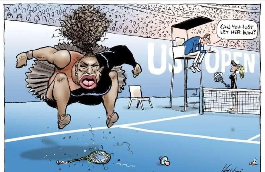 Caricatură realizată de australianul Mark Knight în publicația Herald Sun