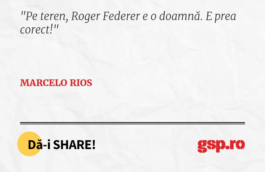 Pe teren, Roger Federer e o doamnă. E prea corect!
