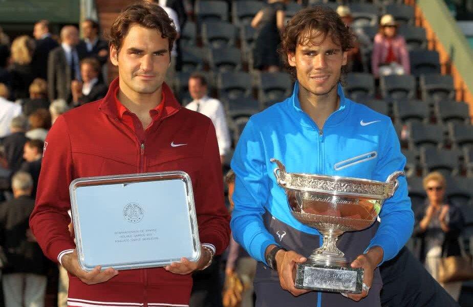 Nadal și Federer, după finala de la Roland Garros din 2011, câștigată de iberic în 4 seturi // FOTO: Guliver/ Getty Images