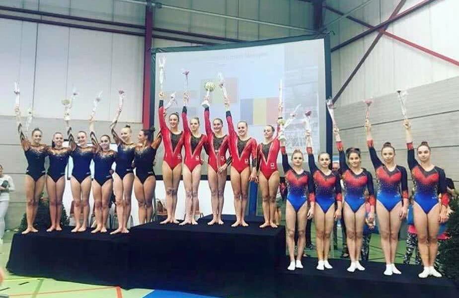 Echipa României, pe podiumul din Belgia
