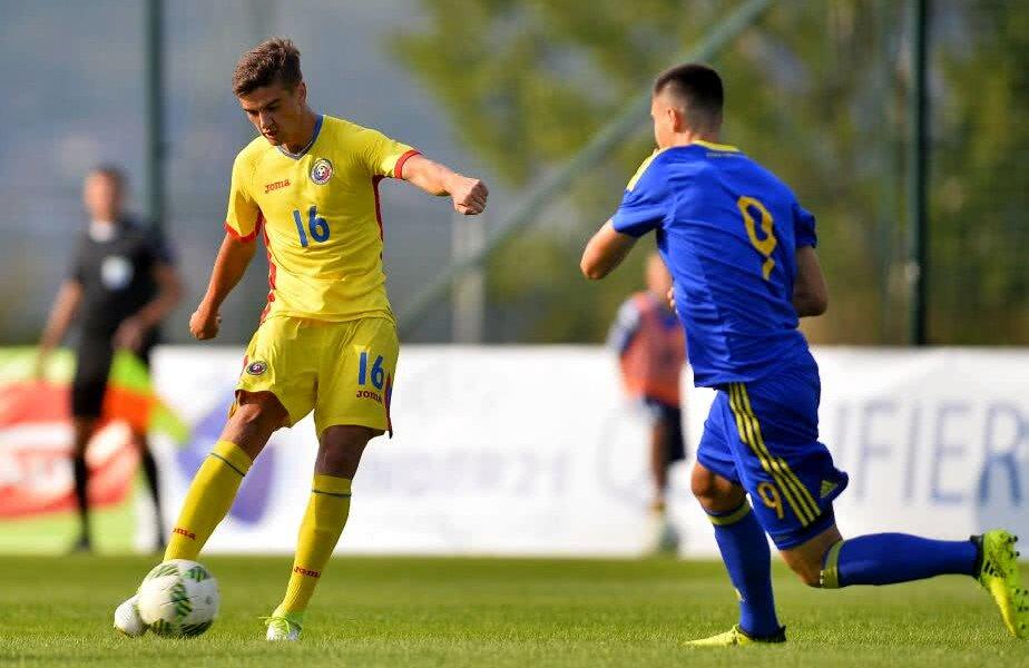 Dragoș Nedelcu va atinge 20 de selecții la naționala U21 dacă joacă în partidele cu Țara Galilor și Liechtenstein // FOTO: Gazeta Sporturilor