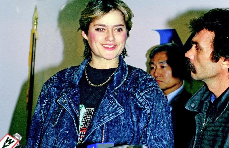 Nadia Comăneci, alături de Constantin Panait la sosirea în SUA / FOTO: Guliver/Getty Images