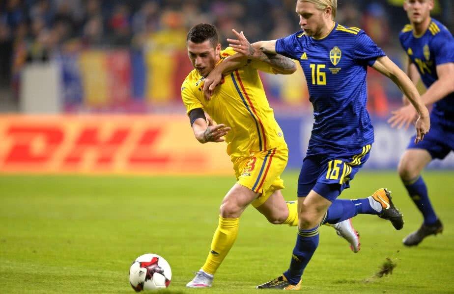 România a învins Suedia, 1-0, într-un amical jucat în martie, partidă în care suedezii au folosit numeroase rezerve // foto: Raed Krishan