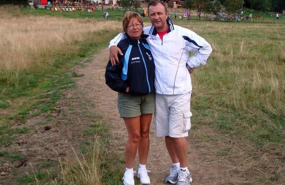 Agafia Constantin împreună cu soțul său, Ionel, antrenor federal și mâna dreaptă a președintelui FRKC, Ion Bârlădeanu