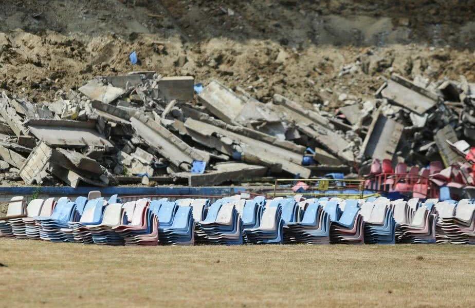 Stadionul din Complexul Ghencea a fost deja demolat