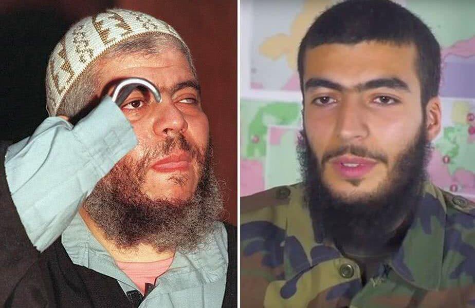Abu Hamza (stânga), Imran Mostafa Kamel (dreapta)