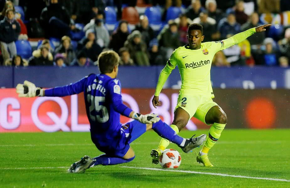 Nelson Semedo în Barcelona - Levanta // FOTO: Reuters