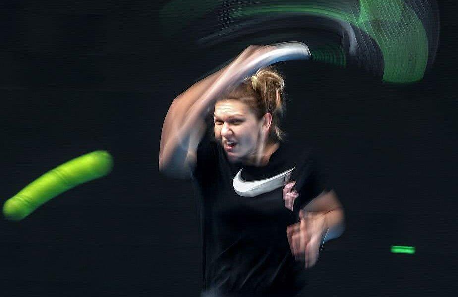 Simona Halep, antrenându-se pentru Australian Open, foto: Guliver/gettyimages