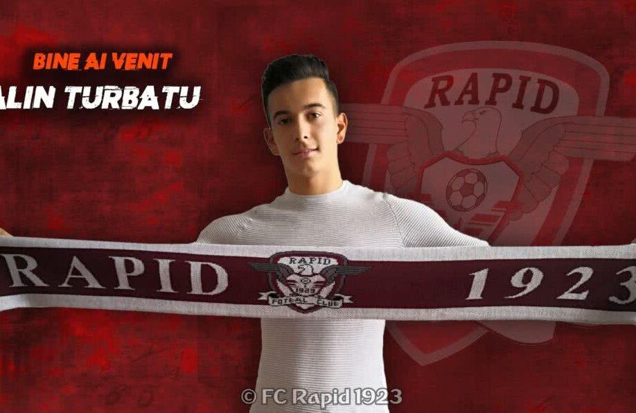 Alin Turbatu este al doilea transfer al Rapidului, după Cătălin Oanea // FOTO: fcrapid.ro