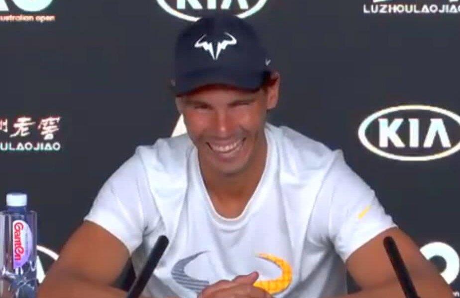 Rafael Nadal în timpul conferinței de presă