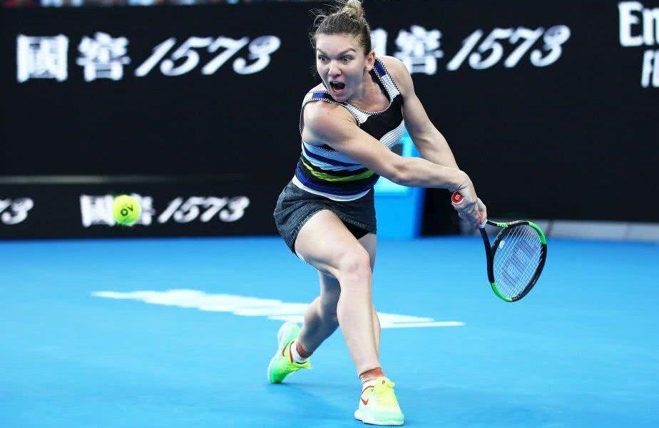 Simona Halep la Australian Open// FOTO: Guliver/GettyImages