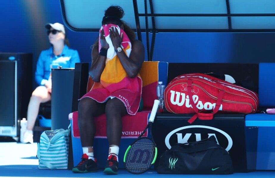 """Serena Williams, eliminată de Karolina Pliskova, după ce a avut 4 mingi de meci și 5-1 în setul decisiv! """"Nu am mai văzut niciodată, pur și simplu a închis ochii și a lovit numai pe linie"""", a explicat la final, foto: Guliver/gettyimages"""