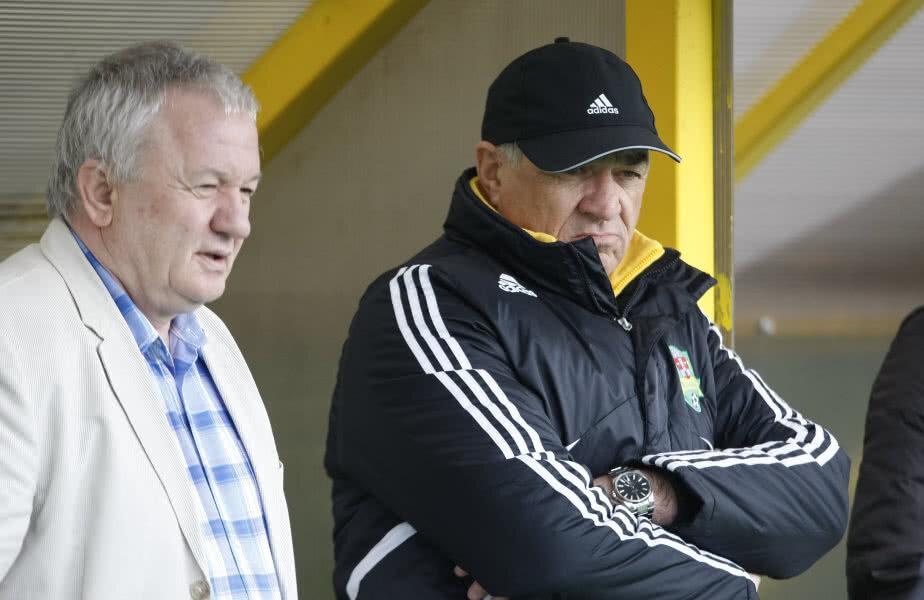 Adrian Porumboiu și Viorel Hizo pe vremea când cei doi colaborau la FC Vaslui
