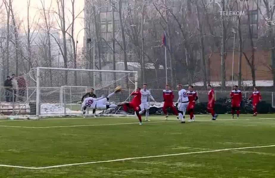 Cătălin Hlistei a înscris din foarfecă laterală în amicalul contra Chindiei
