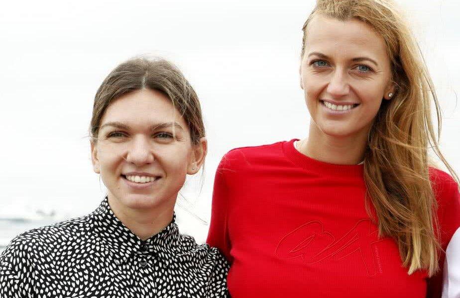 Simona Halep și Petra Kvitova, la un eveniment găzduit la începutul acestui an, în timpul turneului de la Sydney // FOTO: Guliver/Getty Images