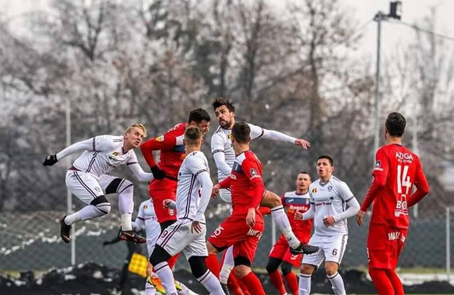 Rapid a câștigat primul meci din Antalya, 2-1 cu FC Zvezda // Sursă foto: Facebook Rapid