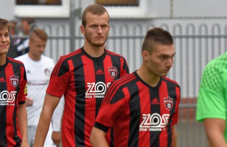 Ivan Hladik (centru - în spate) în tricoul celor de la Spartak Trnava