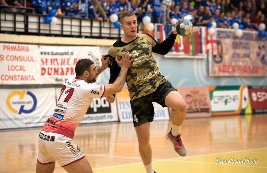 Dejan Malinovici a irosit pe final două atacuri ale Constanței FOTO Daniel Ivan