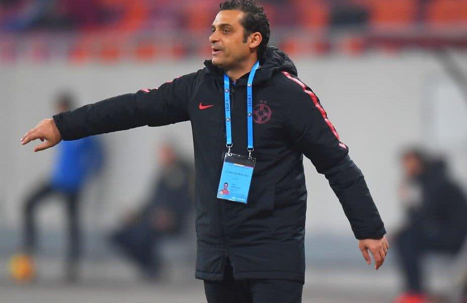 Mihai Teja pe banca FCSB // Foto: Raed Krishan