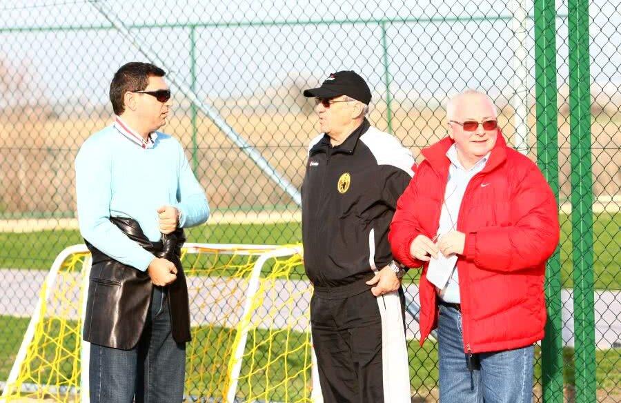 Viorel Hizo, alături de Cristi Borcea și Tică Dănilescu // foto: Arhivă GSP