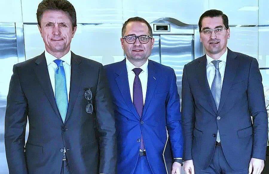 Gică Popescu,  Constantin Bogdan Matei și Răzvan Burleanu // FOTO: Facebook